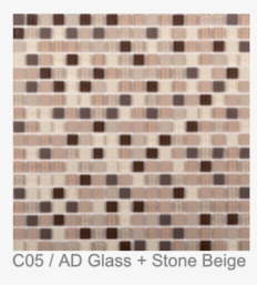 C05 / AD GLASS + STONE BEIGE: 300X300X4MM