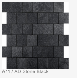 A11/ AD STONE BLACK: 300X300X4MM